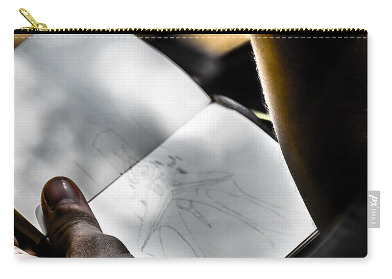 The Artist Photographs Carry-all Pouch featuring the photograph The Artist by Sotiris Filippou