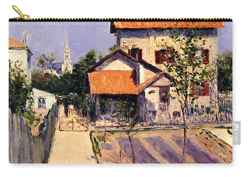 Home Carry-all Pouch featuring the painting The Artists House At Yerres by Gustave Caillebotte