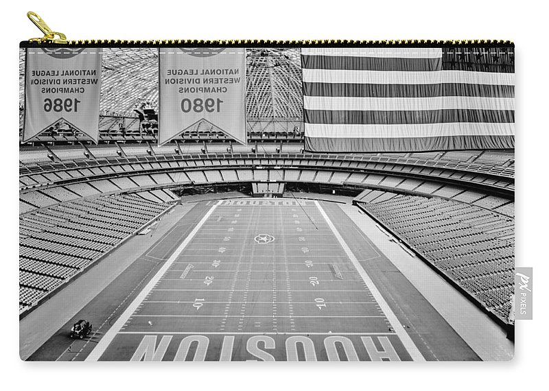 Houston Carry-all Pouch featuring the photograph The Astrodome by Benjamin Yeager