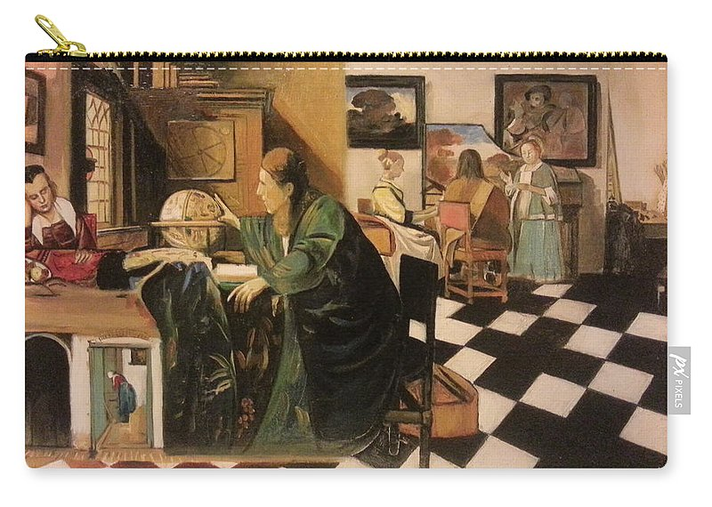 Carry-all Pouch featuring the painting The Astrologer In The Golden Ratio by Jude Darrien
