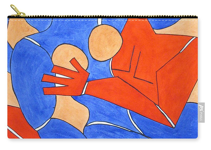Nudes Carry-all Pouch featuring the painting The Attraction One by Barb Meade