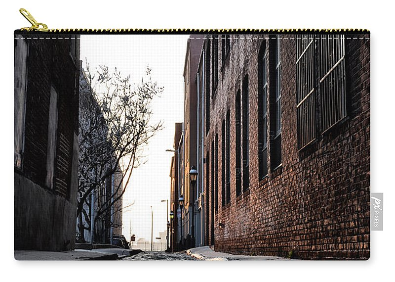 The Back Alley Carry-all Pouch featuring the photograph The Back Alley by Bill Cannon