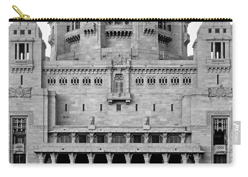 India Carry-all Pouch featuring the photograph The Back Door Monochrome by Steve Harrington
