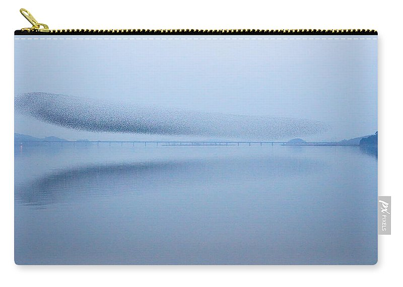 Scenics Carry-all Pouch featuring the photograph The Baikal Teals 2 by Penboy
