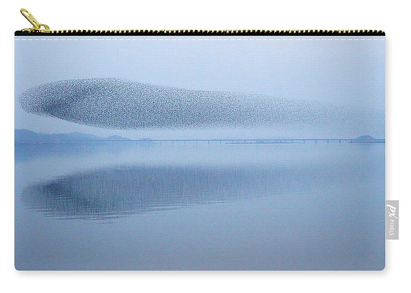 Scenics Carry-all Pouch featuring the photograph The Baikal Teals by Penboy