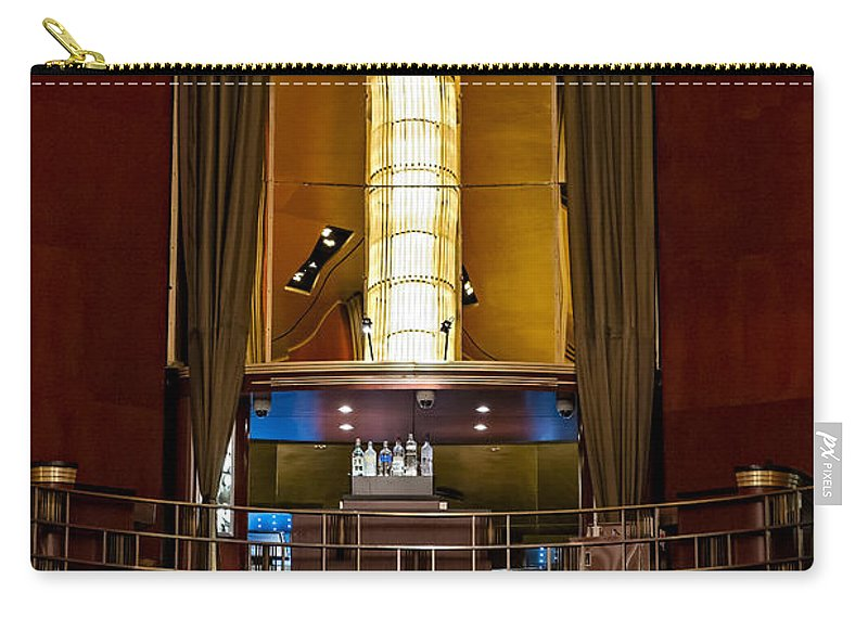 Iconic Carry-all Pouch featuring the photograph The Balcony by Susan Candelario