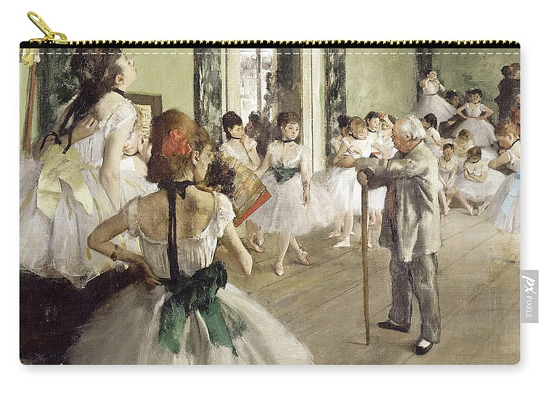 Edgar Degas Carry-all Pouch featuring the painting The Ballet Class by Edgar Degas