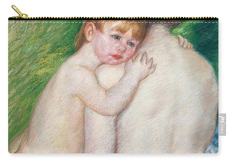 Child Carry-all Pouch featuring the painting The Bare Back by Mary Cassatt Stevenson