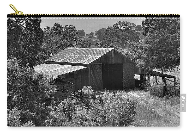 Rustic Carry-all Pouch featuring the photograph The Barn 2 by Richard J Cassato