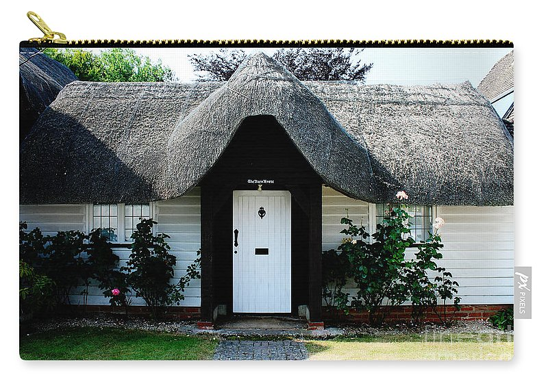 Nether Wallop Carry-all Pouch featuring the photograph The Barn House Door Nether Wallop by Terri Waters