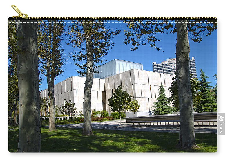 Barnes Carry-all Pouch featuring the photograph The Barnes Museum - Philadelphia by Bill Cannon