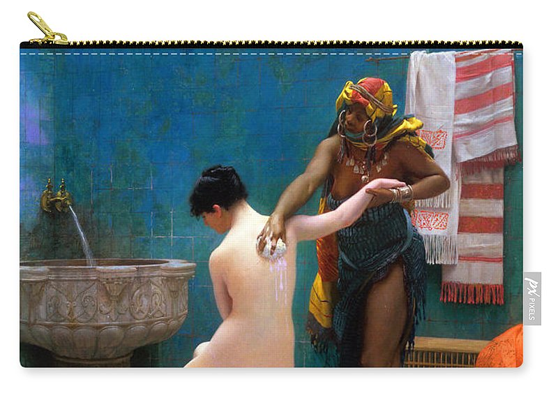 Bath Carry-all Pouch featuring the photograph The Bath by Munir Alawi