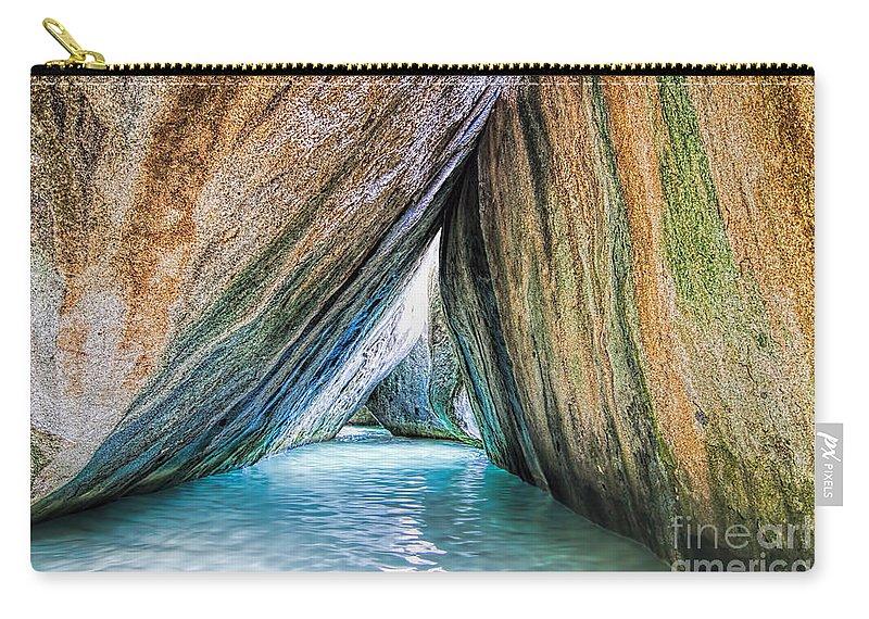 The Baths Carry-all Pouch featuring the photograph The Baths Virgin Gorda British Virgin Islands by Olga Hamilton