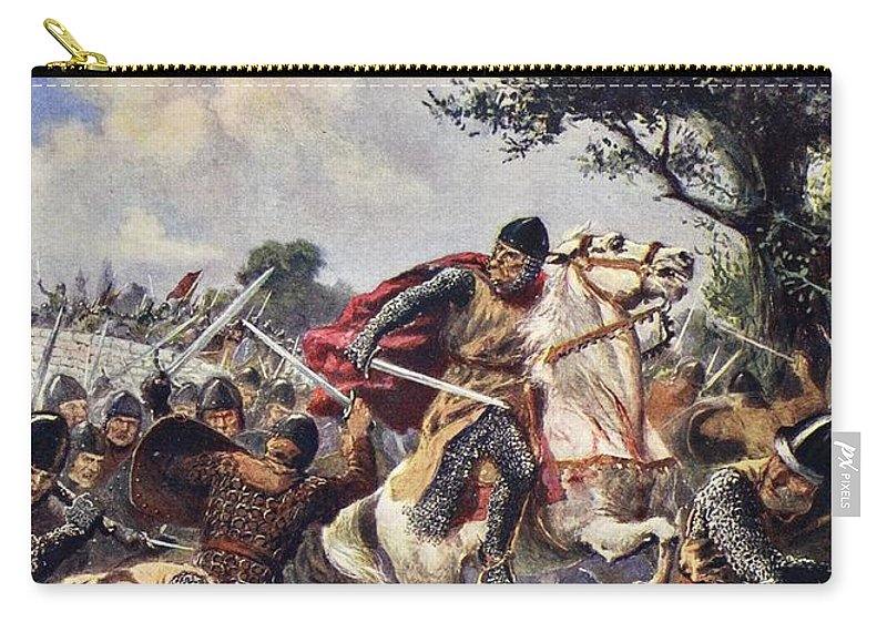 Male Carry-all Pouch featuring the drawing The Battle Of Bouvines, 1214 by John Harris Valda