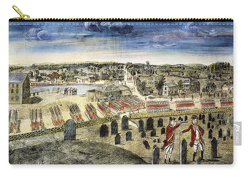 1775 Carry-all Pouch featuring the photograph The Battle Of Concord, 1775 by Granger