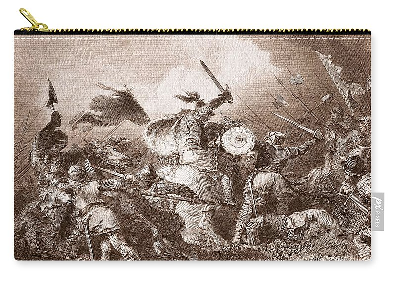 Norman Conquest Carry-all Pouch featuring the photograph The Battle Of Hastings, Engraved by Philippe de Loutherbourg