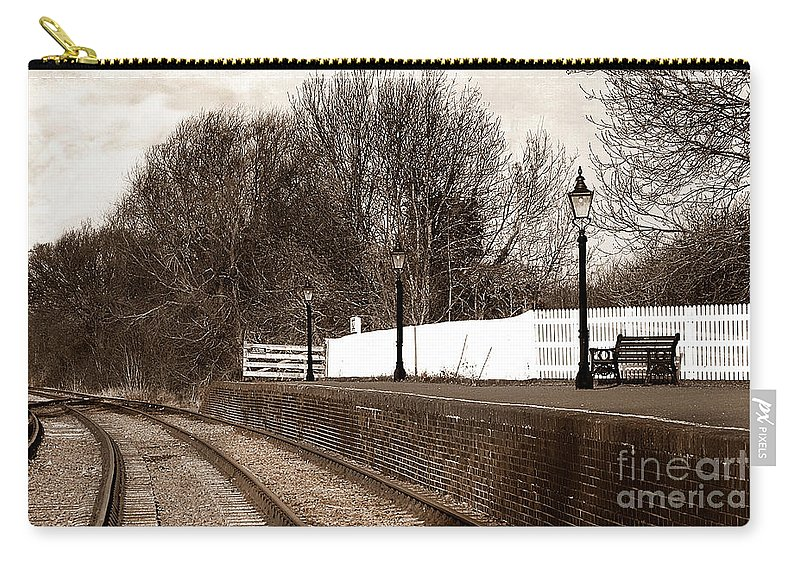 Shenton Carry-all Pouch featuring the photograph The Battlefield Line by Linsey Williams
