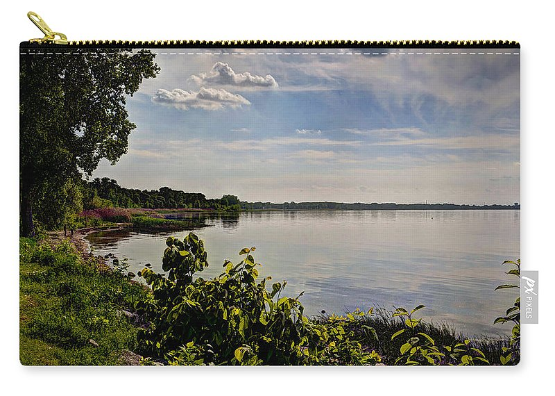 Wisconsin Carry-all Pouch featuring the photograph The Bay Of Green Bay by Deborah Klubertanz