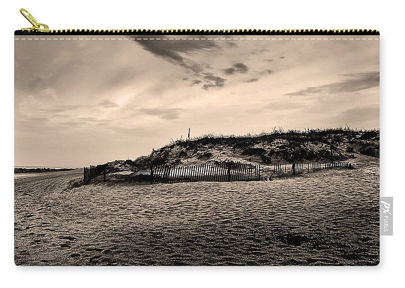 Beach Carry-all Pouch featuring the photograph The Beach In Sepia by Bill Cannon