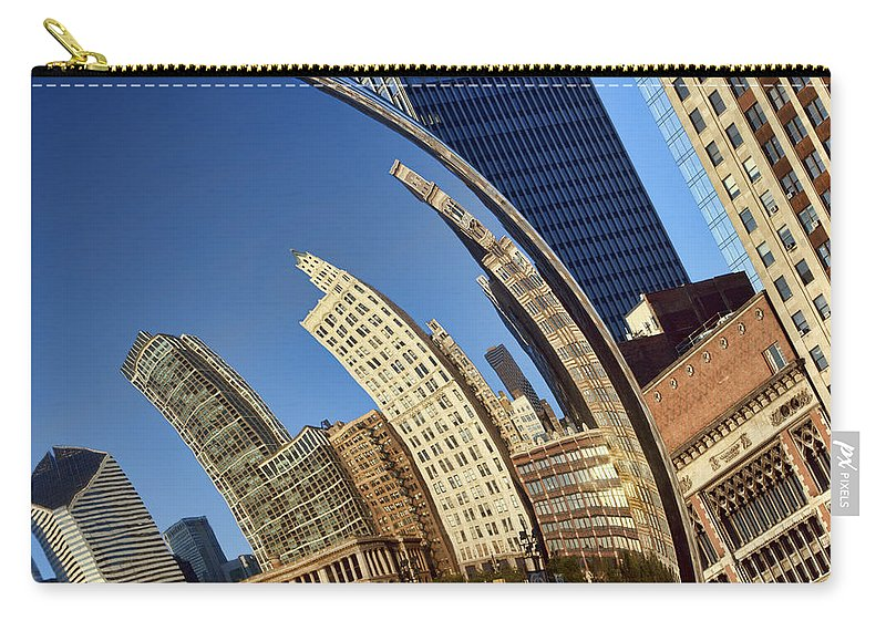 Chicago Carry-all Pouch featuring the photograph The Bean - 1 - Cloud Gate - Chicago by Nikolyn McDonald
