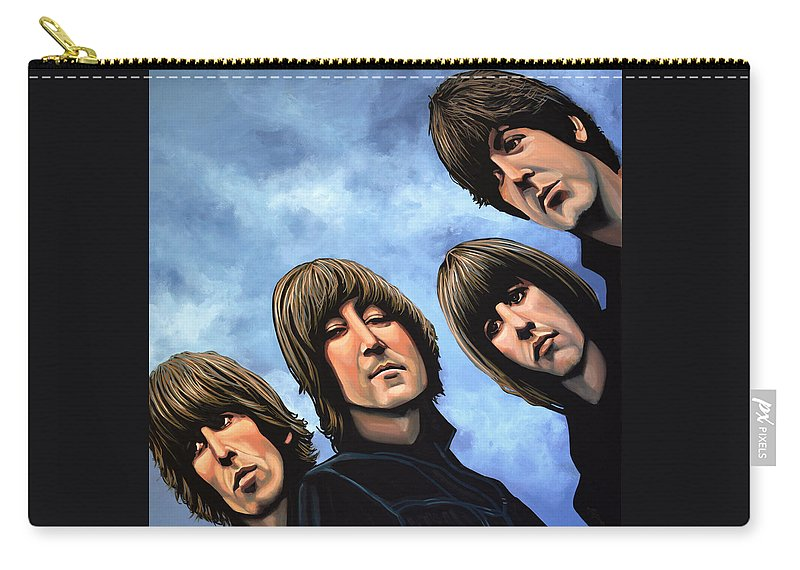 The Beatles Carry-all Pouch featuring the painting The Beatles Rubber Soul by Paul Meijering