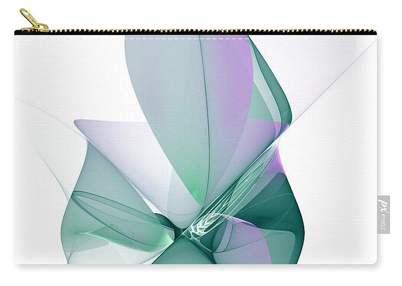 Abstract Carry-all Pouch featuring the digital art The Beauty by Gabiw Art
