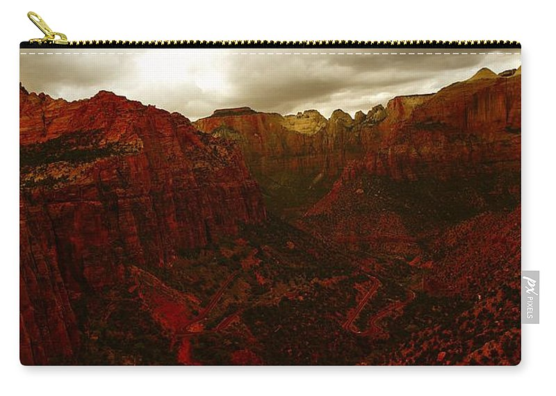 Zion National Park Carry-all Pouch featuring the photograph The Beauty Of Zion Natinal Park by Jeff Swan