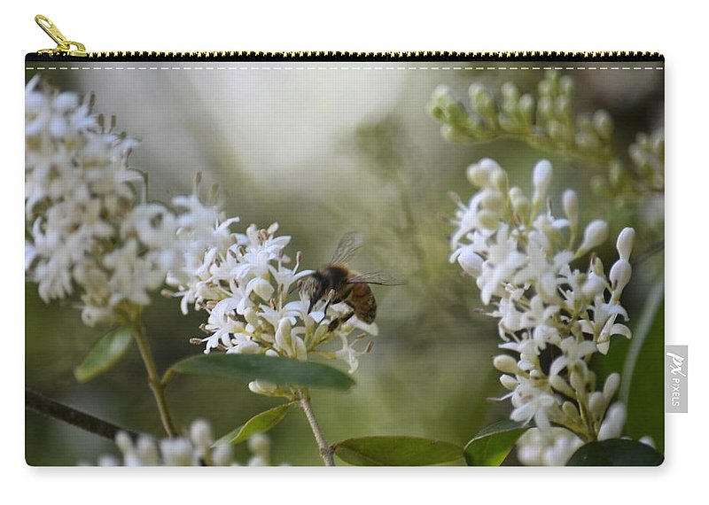 The Bee Carry-all Pouch featuring the photograph The Bee by Maria Urso
