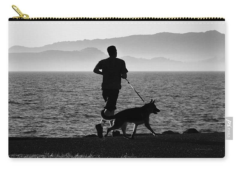Friends Carry-all Pouch featuring the photograph The Best Buddies B by Xueling Zou