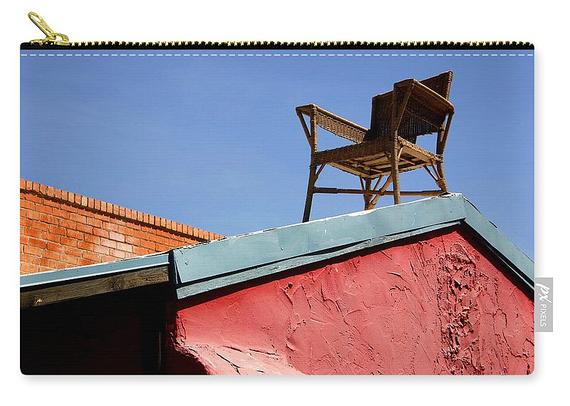 Chair Carry-all Pouch featuring the photograph The Best Seat In The House by Joe Kozlowski