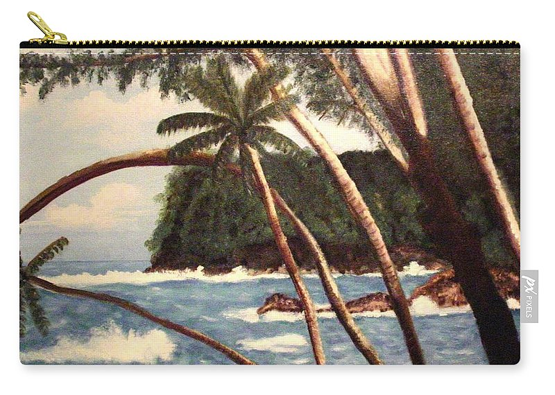Hawaii Carry-all Pouch featuring the painting The Big Island by Laurie Morgan