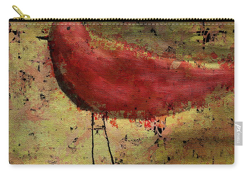Bird Carry-all Pouch featuring the painting The Bird - 24a by Variance Collections