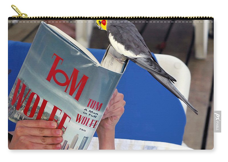 Bird Carry-all Pouch featuring the photograph The Bird Brain by Madeline Ellis