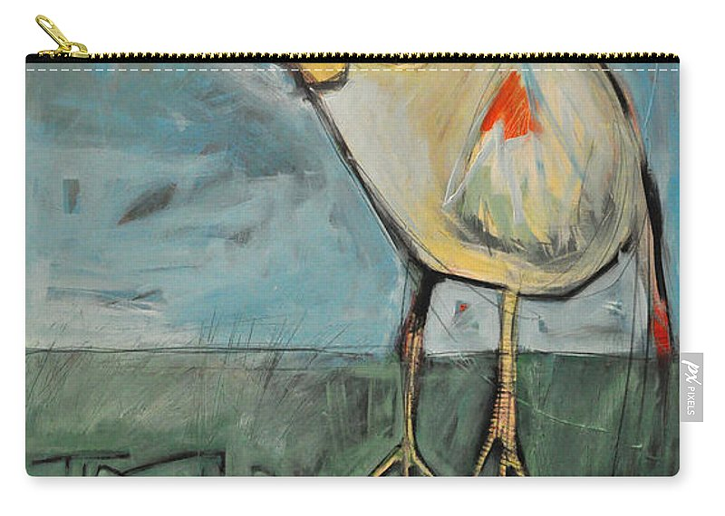 Bird Carry-all Pouch featuring the painting The Bird Is The Word Is The Bird by Tim Nyberg