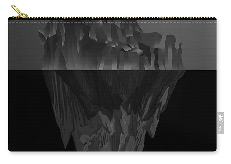 'black On Black' Collection By Serge Averbukh Carry-all Pouch featuring the digital art The Black Iceberg by Serge Averbukh
