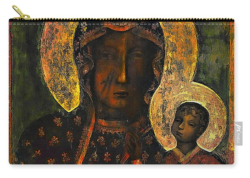 Poland Carry-all Pouch featuring the painting The Black Madonna by Andrzej Szczerski