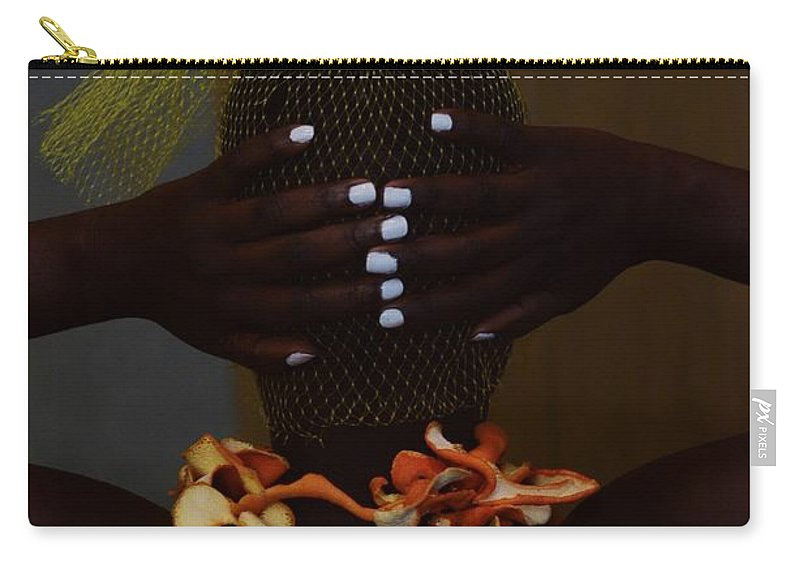 Orange Color Carry-all Pouch featuring the photograph The Black Victorian by Stephanie Nnamani