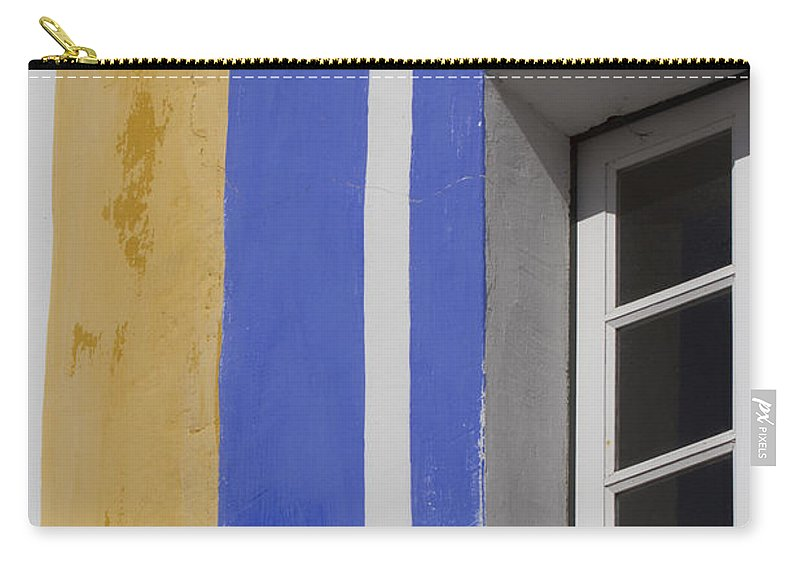 Architecture Carry-all Pouch featuring the photograph The Blue Framed Window by Heiko Koehrer-Wagner