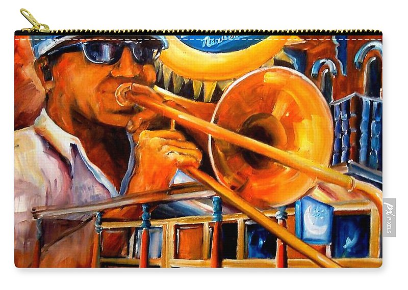 New Orleans Carry-all Pouch featuring the painting The Blue Nile Jazz Club by Diane Millsap