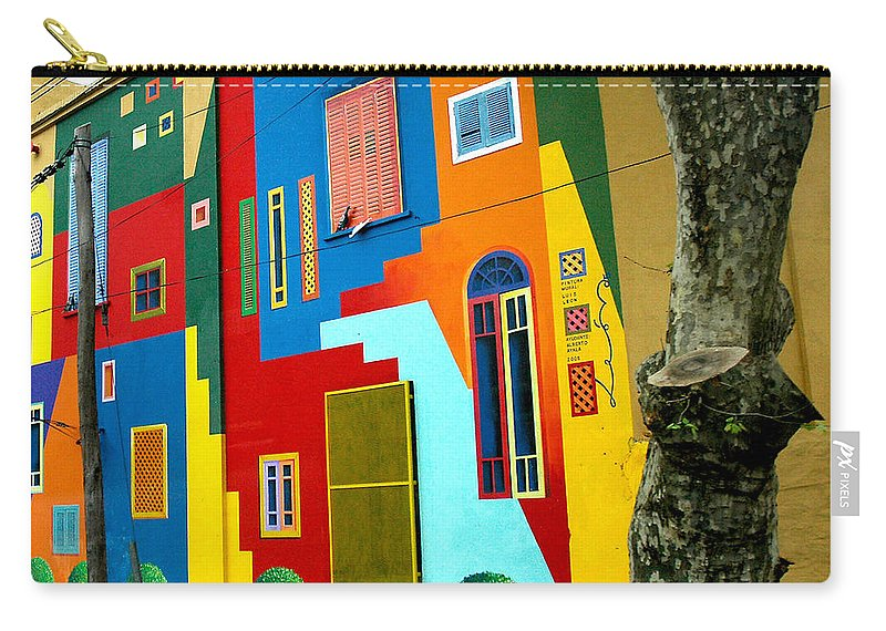 La Boca Carry-all Pouch featuring the photograph The Blue Path by Norman Johnson