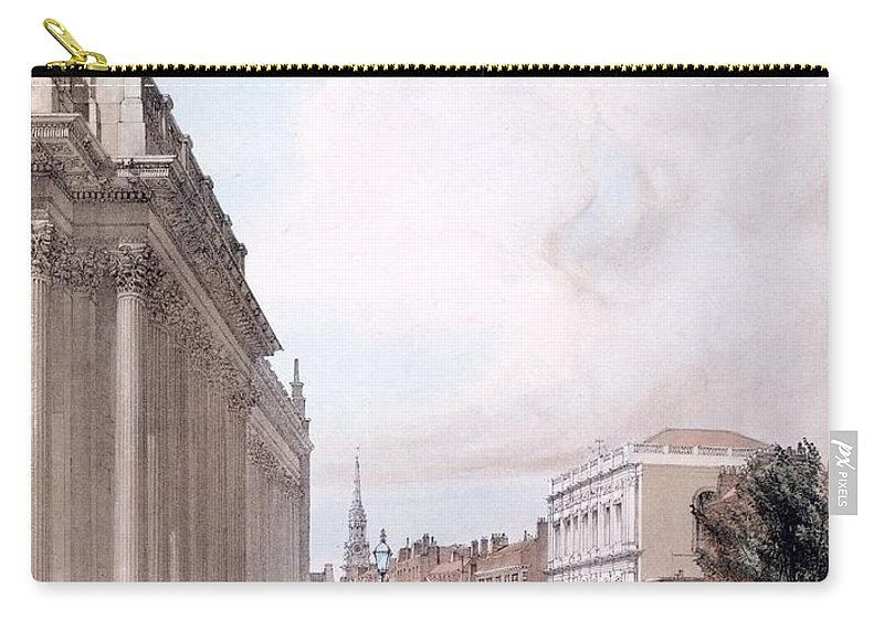 Board Of Trade Carry-all Pouch featuring the drawing The Board Of Trade, Whitehall by Thomas Shotter Boys