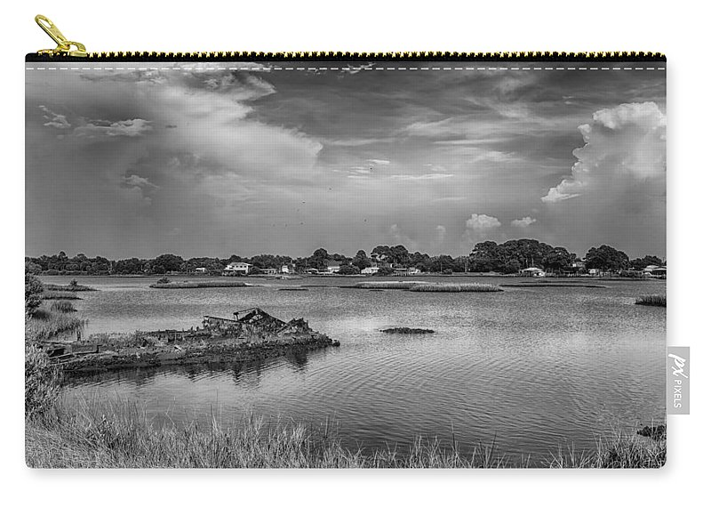 Ceder Key Carry-all Pouch featuring the photograph The Boardwalk Trail by Howard Salmon
