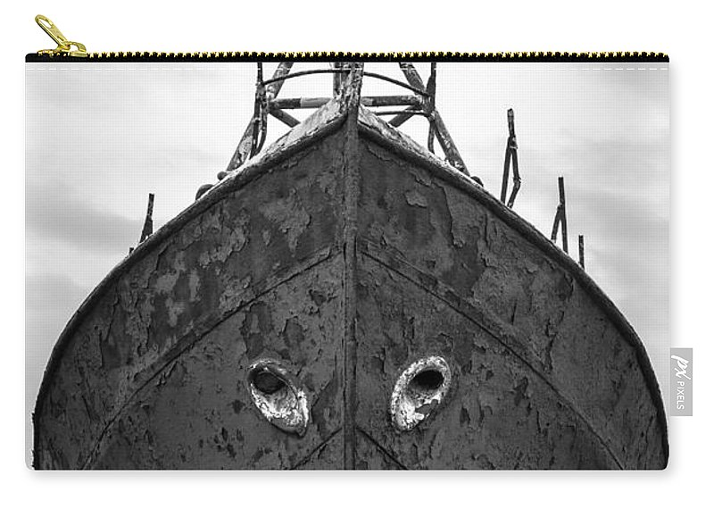 Black And White Carry-all Pouch featuring the photograph The Boat by Gunnar Orn Arnason