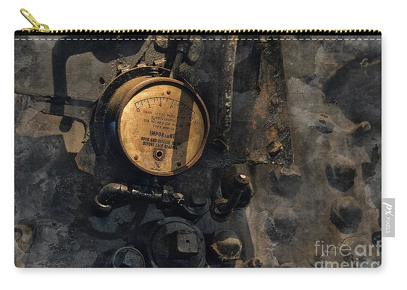 Train Carry-all Pouch featuring the photograph The Boiler Gauge by David Arment