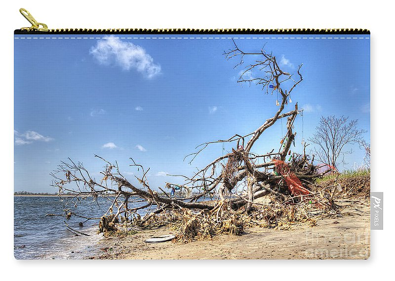 Washed Ashore Carry-all Pouch featuring the photograph The Bottle Tree by Rick Kuperberg Sr