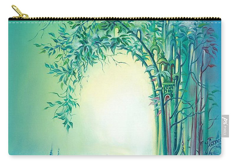 Light Carry-all Pouch featuring the painting The Boundary Bush by Anna Ewa Miarczynska