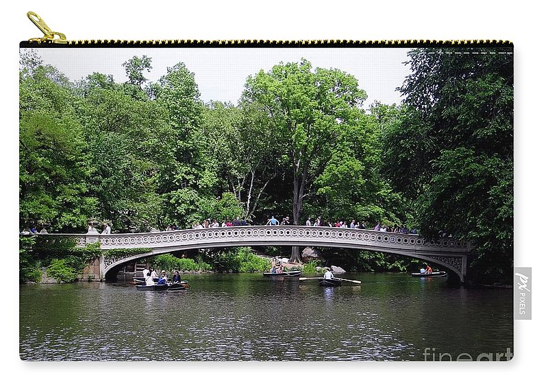 Central Park Carry-all Pouch featuring the photograph The Bow Bridge by Ed Weidman