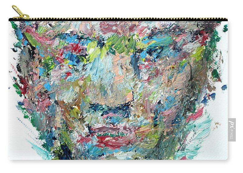 Boxer Carry-all Pouch featuring the painting The Boxer by Fabrizio Cassetta