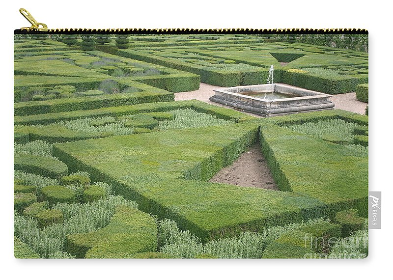 Boxwood Carry-all Pouch featuring the photograph The Boxwood Garden At Chateau Villandry by Christiane Schulze Art And Photography