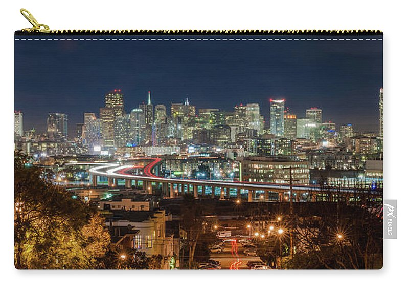 Tranquility Carry-all Pouch featuring the photograph The Breath Taking View Of San Francisco by Www.35mmnegative.com